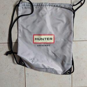 Hunter rain boots dust bag/backpack